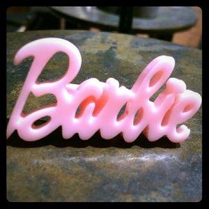 Light Pink BARBIE Statement Ring
